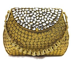 Stylish Designer Metal Clutch Bag