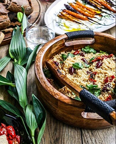 SWHF Pure Mango Wooden Salad/Fruit Bowl (Brown)