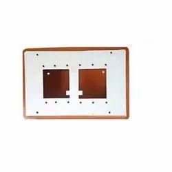 White and Orange PVC 2 Slots Open Switch Board