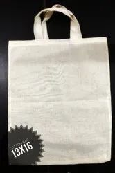 13x16 Inch Off White Cotton Carry Bag