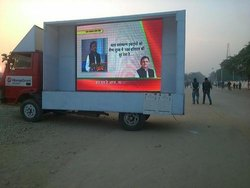 Product LED Screen Mobile Van, LED Display Screen, LED Video Wall On Rent