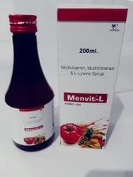 Multivitamin Multimineral L-Lysine Syrup