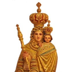 Wooden and Fiber Mother Mary Statue