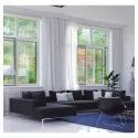 Lg Hausys White Upvc Horizontal Sliding Window, Thickness Of Glass: 5 To 40mm, For Residential