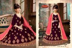 Cindrella 1027 By Sanskar Style Velvet Child Special Lehenga Matching
