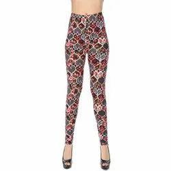 Straight Fit Ladies Printed Casual Leggings