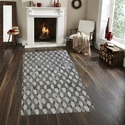 Rectangular Hand Made Hair On Leather Carpet By Rugs In Style