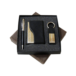 Black Leather 3 In One Set Corporate Gifts