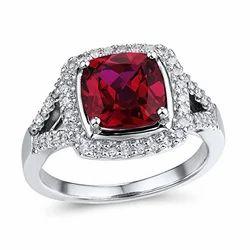 White Gold Ruby Ring