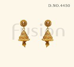 Traditional Antique South Indian Jhumka Earrings