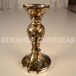 Gold Pillar Candle Holder
