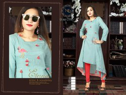 Fancy Rayon Flex Plain Kurti