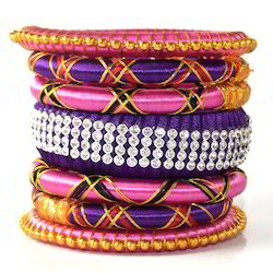 Indian Handcraft New Multicolour Silk Thread Bangles