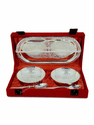 Rajasthan Craft Art Silver Aluminium Bowl Set, Size: 3.5 Inch Height