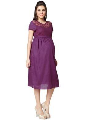 2fd850e90cc63 XL Polyester Nine Maternity Dress In Purple Colour, Rs 999 /piece ...