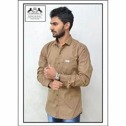 King Royal Cotton Mens Fancy Plain Shirt, Size: L and XL