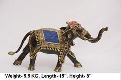 Brass Walking Elephant, Weight: 5.5 kg
