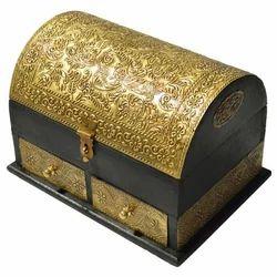 Wooden Box With Brass Work