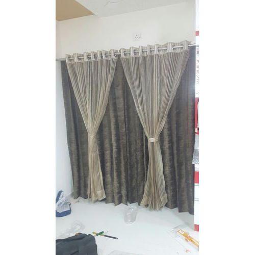 Plain designer living room curtain rs 60 meter salaam - Curtain ideas for living room india ...