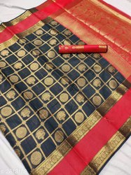 6.3 m (with blouse piece) 3 color Divine Stylish Banarasi Silk Sarees