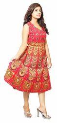 Girls Traditional Print Short Dress