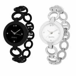 Black & Silver Golry Grils Watch