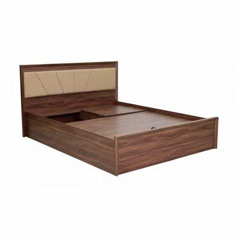 Furnirath Queen Size Bed With Hydraulic, Walnut Storage Bed Queen