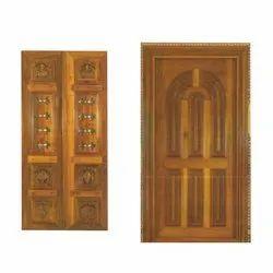 Interior Teak Wood Wooden Kitchen Pantry Door