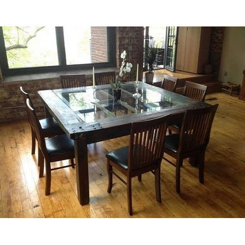 Awesome Wooden Glass Top Dining Table Set Download Free Architecture Designs Scobabritishbridgeorg