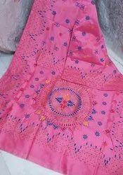 Handloom Silk Kanthawork Sarees