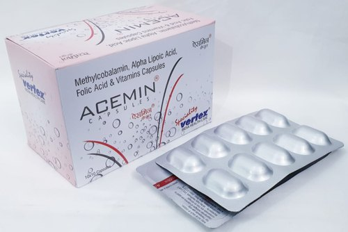 Alpha Lipoic Acid 100mg, Methylcobalamin 1500mcg, Folic Acid 1.5mg & Vitamins Capsules