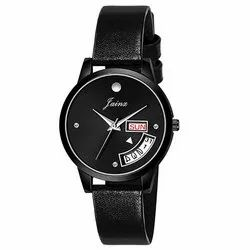 Jainx Day and Date Black Analog Watch for Women's JW645