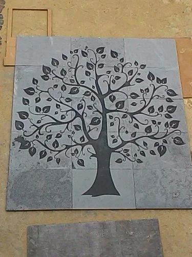 Slate Carving Mural