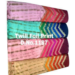 Twill Foil Printed Fabric