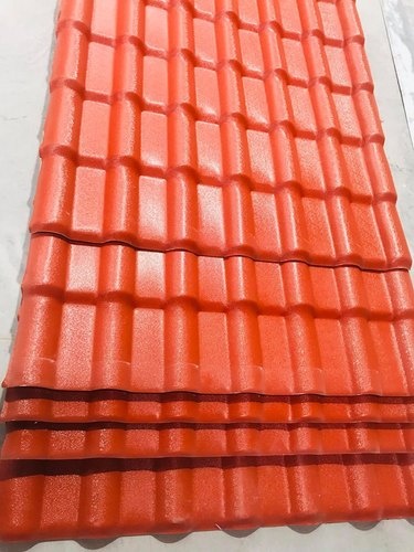 TETTO COLOR Embossed UPVC Glazing Tile, Thickness: 2.5,3mm