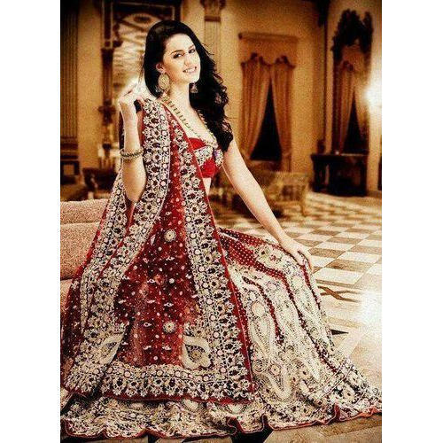 3afe6b59db Maroon Ladies Embroidered Bridal Lehenga, Rs 12000 /set, Azad Zari ...