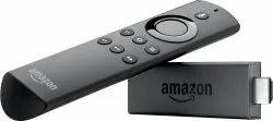 Black Amazon Firetvstick With Alexa