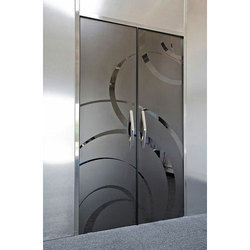Transparent 5 To 8 Square Feet Fancy Door Glass