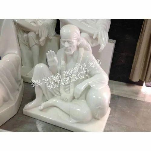 Marble Sai Baba Dwarka Mai Statue