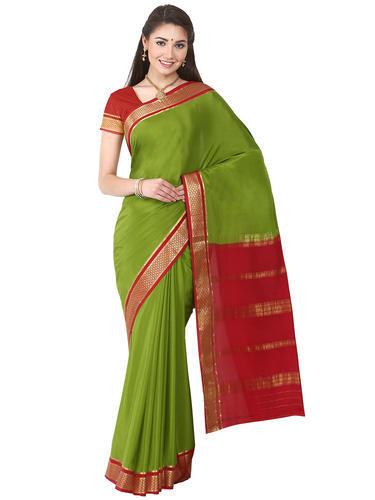 72374b70a26 Plain Mysore Silk Kaushika 100% Pure Crepe Mysore Traditional Silk Saree