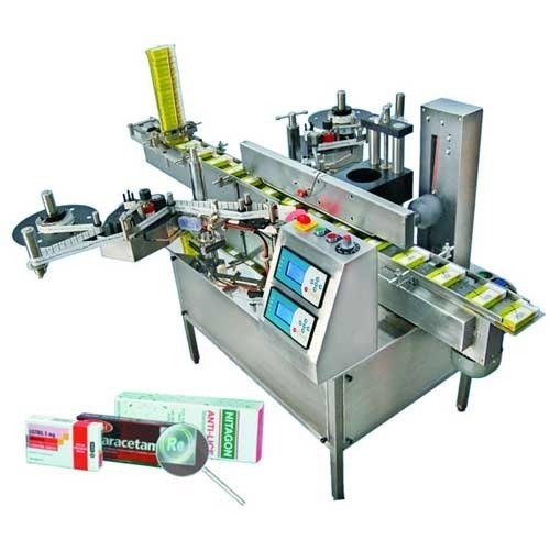 SR Automation Stainless Steel Seal Labeling Machine, For Industrial