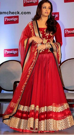 99789c22a17 Red Party Wear Aishwarya Rai Bollywood Designer Border Saree