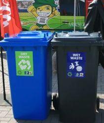 塑料干湿垃圾桶,容量60升