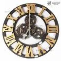 """Brown Digital Wooden Wheel Clock, Size: 18"""", For Home"""