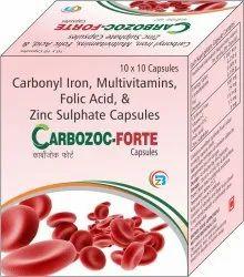 Carbonyl Iron, Folic Acid ,Vitamin C ,Vitamin B12 , Zinc Sulphate Capsules