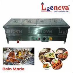 Silver Leenova Stainless Steel Bain Marie, For Commercial Kitchen, 240V