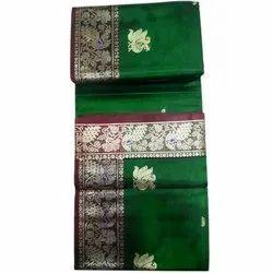 Deepam Fabrics 6 M (with Blouse Piece) Festive Wear Paithani Saree