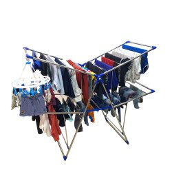 Double Pole Jumbo Cloth Drying Stand