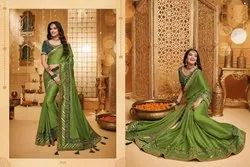 Sweet Silk Embroidered Party Wear Saree