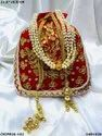 Traditional Gota Pati Work Potli Batua Bag